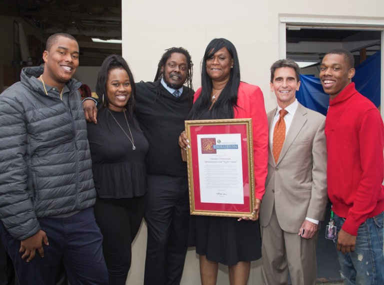 Sen.-Mark-Leno-names-YCAT-C-Small-Bus.-of-Year-Raysean-Jones-Jr.-Lyn-Tise-Jones-RAysean-Jones-Sr.-Yolanda-Jones-Rome-Jones-web